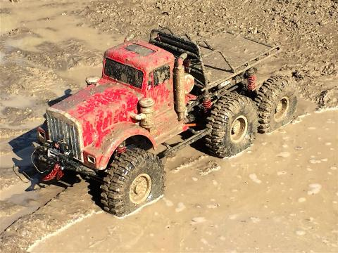 RC ADVENTURES - 6x6 MUD TRUCK in a SOUPY SWAMP - Chocolate Mud Milk