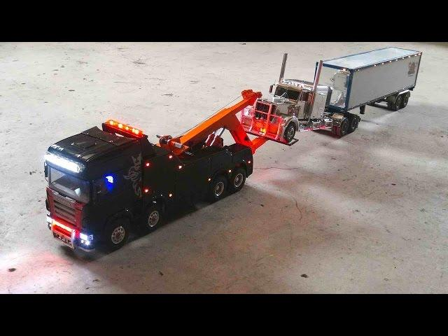 RC ADVENTURES - SCANiA R560 Wrecker Tow Truck, Towing Practice