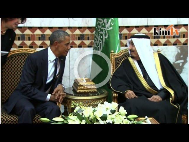 Raja Salman tinggalkan Obama untuk solat Asar