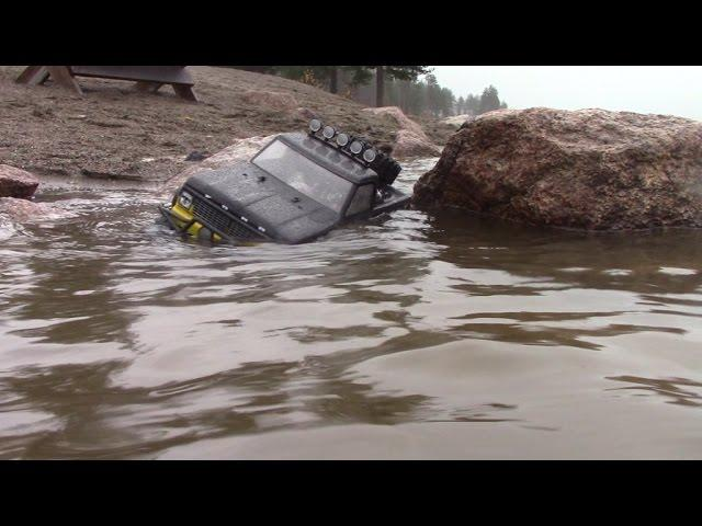 RC TRAIL FORD F100 FALL WET BEACH SAND & ROCK EXPEDITION