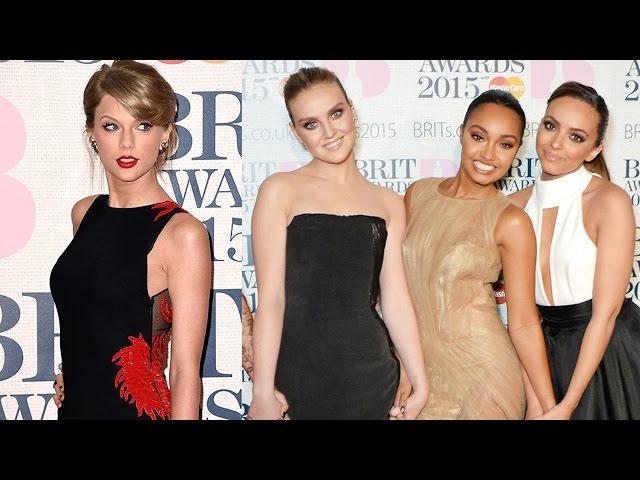 Taylor Swift & Little Mix Fashion at 2015 Brit Awards