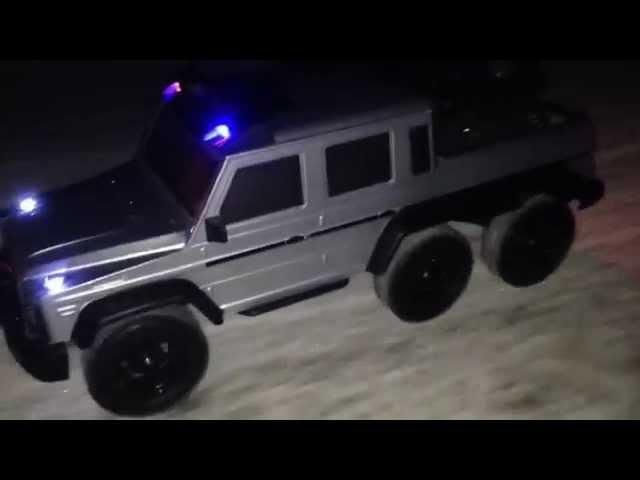 RC TRAIL 6x6 MERCEDES WINTER EXPEDITION IN THE DARK NIGHT
