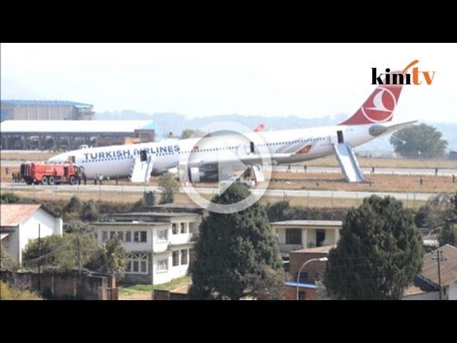 Pesawat Turki tergelincir ketika mendarat di Nepal