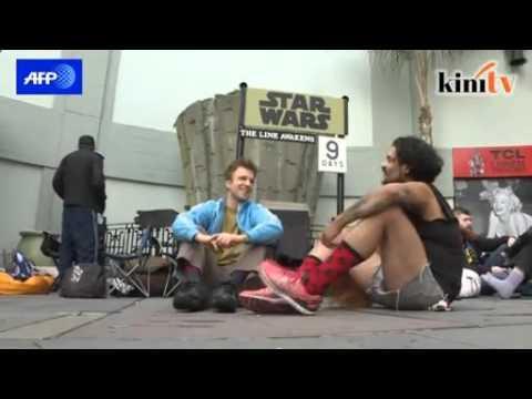 Peminat teruja menjelang tayangan Star Wars