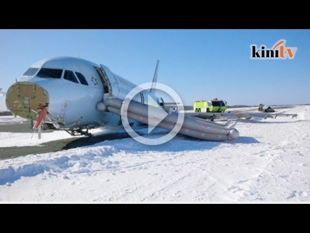 Pesawat Air Canada mendarat cemas, 23 orang cedera