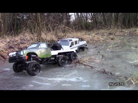 RC TRAIL FATHER & SON DUAL 6X6 WATER & ICE WINTER EXPEDITION