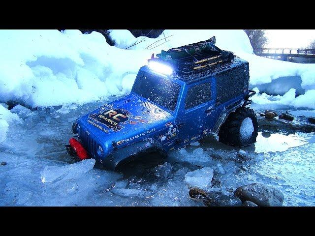 RC ADVENTURES - iCY BLUE BEAST JEEP 4X4 RC Truck - The Whole Trail, Nothing but the Trail