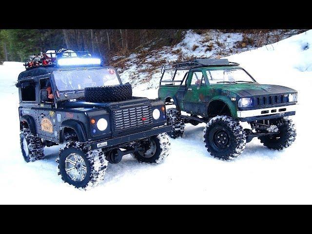 RC ADVENTURES - Gelande 2 & Trail Finder 2 4x4 Scale RC Trucks Trailing