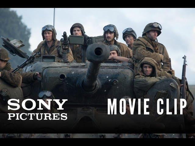 """FURY Movie Clip: """"Hold This Crossroad"""""""