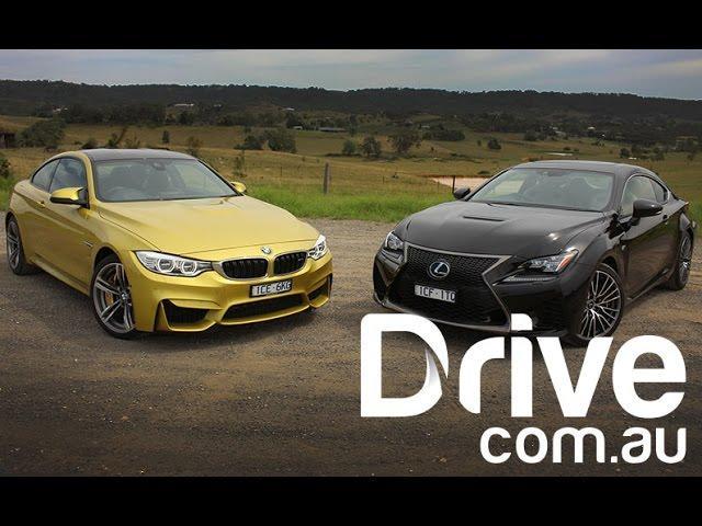 BMW M4 v Lexus RC F Review | Drive.com.au