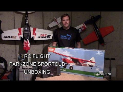 RC FLIGHT PARKZONE SPORT CUB AS3X BNF UNBOXING