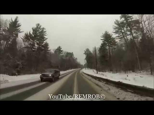 Driving North Conway In Snow Storm