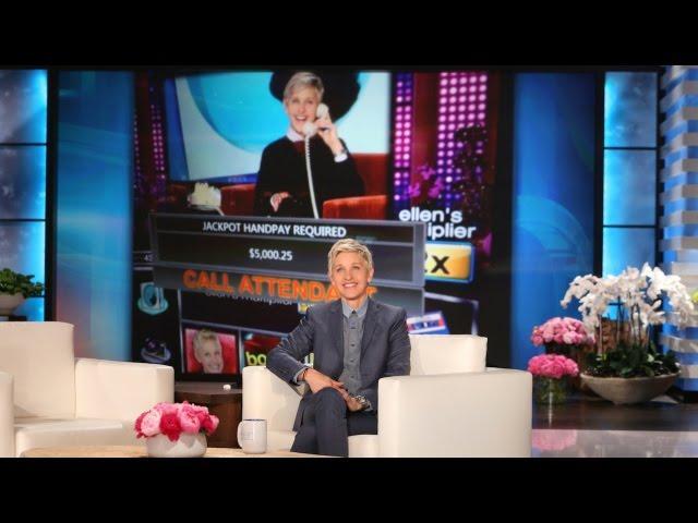 Ellen's Slot Machine Already Has a Winner!