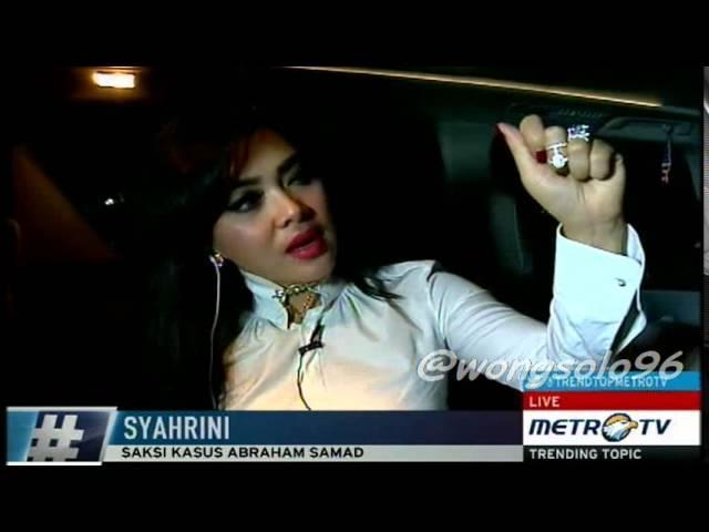 Wawancara Syahrini di MetroTV dalam MOBIL setelah Live di TV ONE