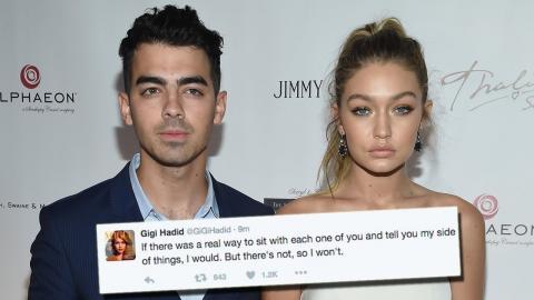 Gigi Hadid Deletes Tweets For Joe Jonas & Fans About Zayn Malik Romance