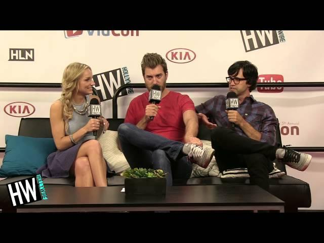 Rhett & Link Talk 'Looking For Ms. Locklear' & Being Raised By Falcons! (VIDCON 2014)