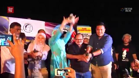 Large crowd at Himpunan Bebaskan Anwar