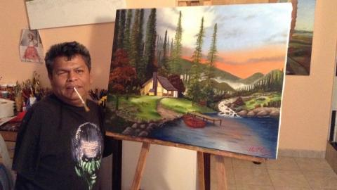 Painting Without Arms: Builder Turns Artist After Tragic Accident