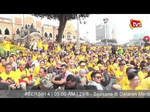 #BERSIH4 : Sesi siang himpunan aman berakhir meriah   29/8