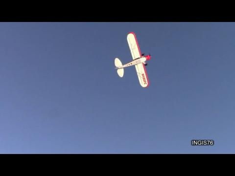 RC FLIGHT FATHER & SON PARKZONE SUPER CUB MAIDEN AND TRAINER CABLE FLIGHT PRACTICE