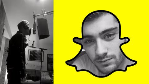 Zayn Joins Snapchat & Posts Pillowtalk Acoustic Clips