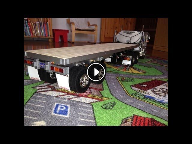 rc trail tamiya flatbed semi trailer build