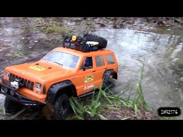 RC TRAIL ICE,WATER, MUD  EXPEDITION HILUX & CHEROKEE