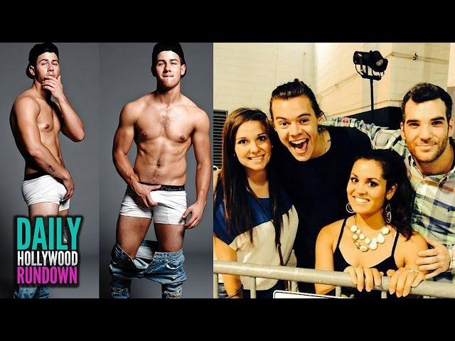 Nick Jonas Strips & Touches Himself In Underwear- One Direction Surprise Concert Proposal (DHR)
