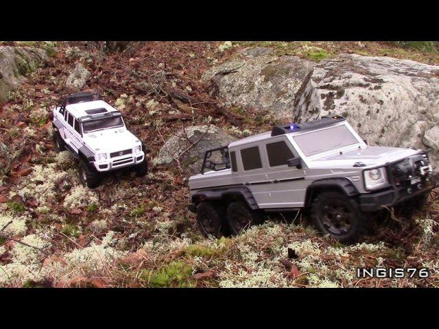 RC TRAIL 6X6 VS 4X4 EXPEDITION IN THE WOODS FATHER & SON RC FUN