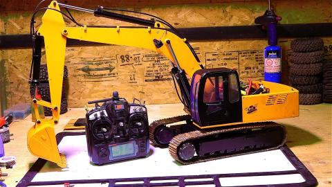 RC ADVENTURES - 1/12th Scale 4200xl Excavator - Hydraulic Pump ESC Upgrade - Radio Controlled