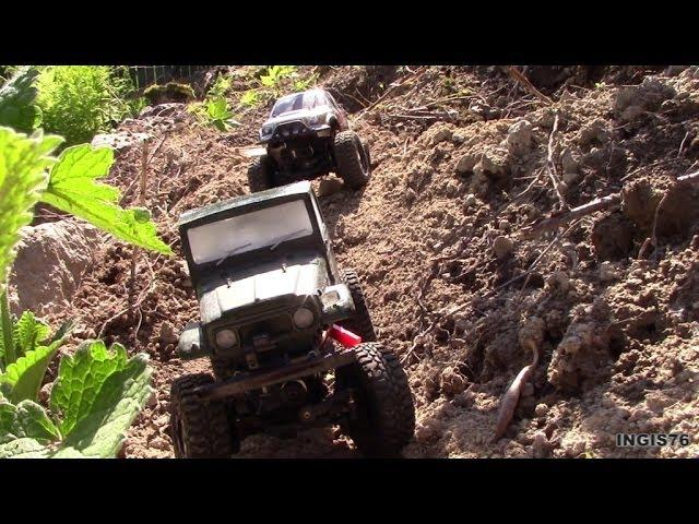RC TRAIL LOSI TRAIL TREKKER SCALE COURSE RUN FUN