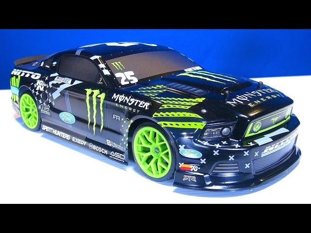 RC ADVENTURES - Unboxing a HPI e10 1/10 scale Drift Car - Monster Energy - electric