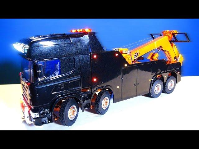 RC ADVENTURES - Unveiling: Custom Recovery & Tow Truck 8x8 - RCSparks Studio Towing & Transport