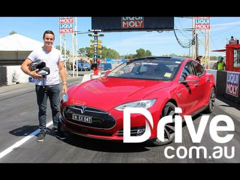 Tesla's Model S takes on the Summernats | Drive.com.au