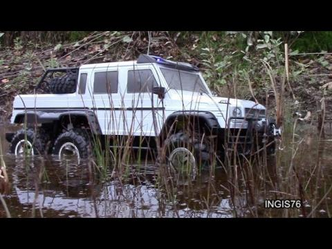 RC TRAIL LIFTED 6X6 MERCEDES G63 AMG SWAMP EXPEDITION