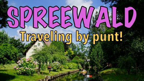 Punting in Spreewald and feeding penguins at Spreewelten, Germany